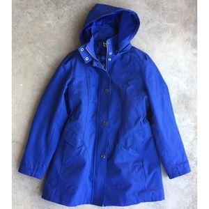 KRISTEN BLAKE Blue Rain Jacket Size XL